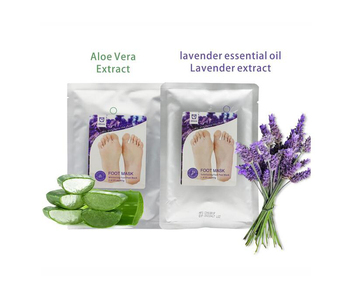 OEM Private Label Natural Dead Skin Remover Lavender Exfoliating Peeling Foot Mask