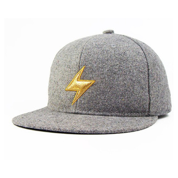 d1127dc7 Famous Designer Grey Wool High Quality Snapback Caps Hats With Golden Logo  - Buy High Quality Snapback Caps Hats,High Quality Snapback Caps Hats,High  ...