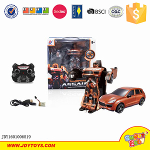 Radio control Car Robot Toys/super hot A key Shape-change deformation toy car big remote control robot