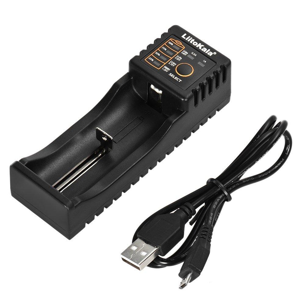 Walmeck LiitoKala Lii-100 Battery Charger for 1.2V/3.7V/3.2V/3.85V AA/AAA 18650/18350/10440/14500/16340 NiMH Lithium Rechargeable Batteries