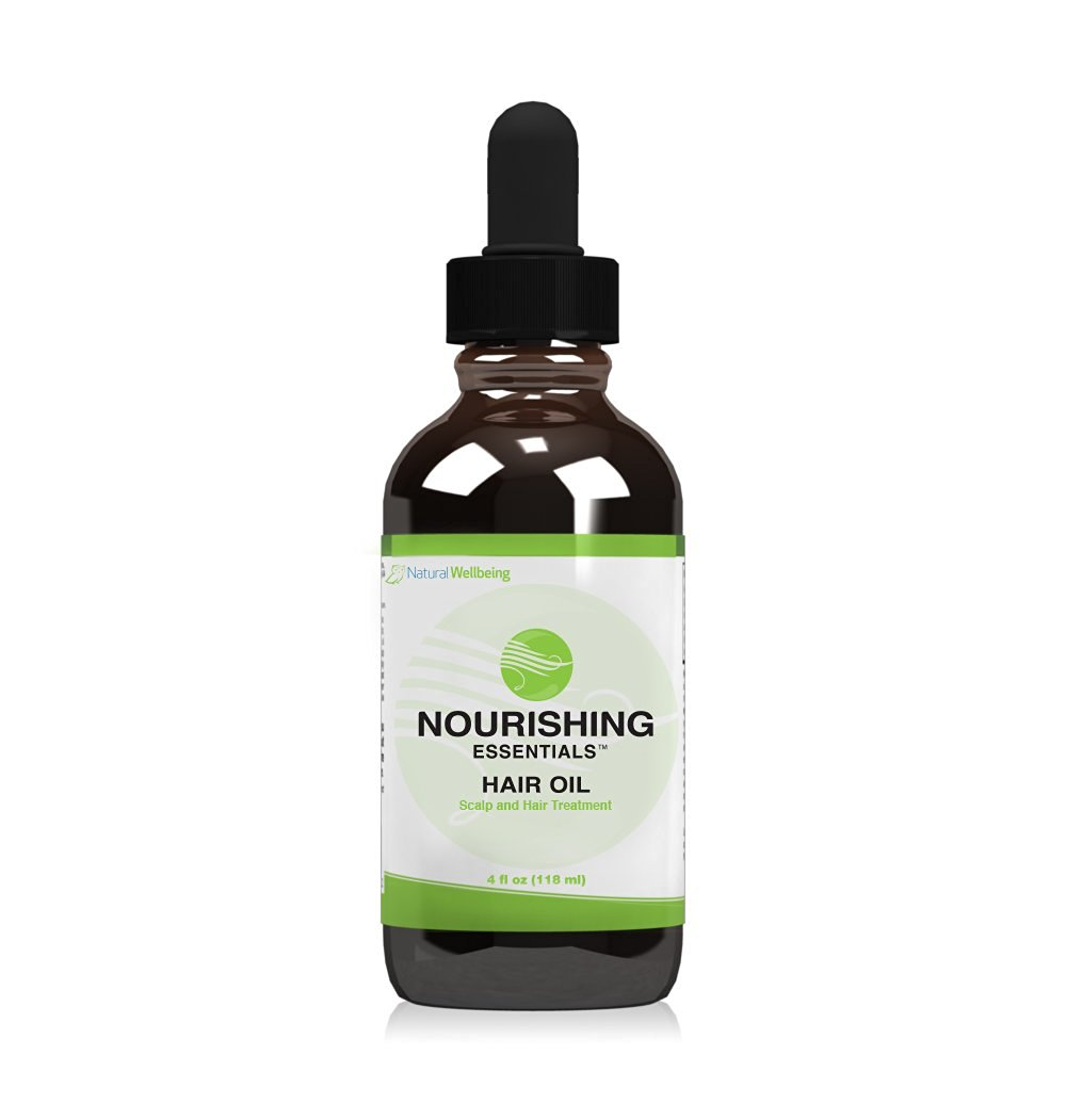 Hair Essentialsª Nourishing Hair Oil - 4oz - Healthy hair and scalp support with nourishing coconut oil and pure essential oils: