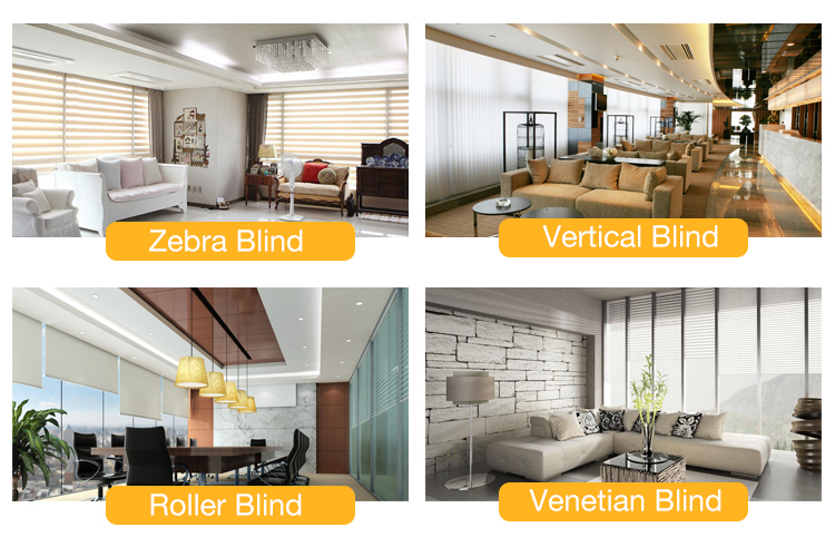 15 channel control motorized blind shades 1m height blinds for window