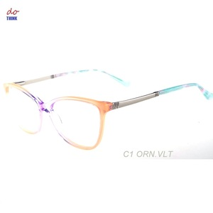 2abc596ed9 17168 Progressive color rainbow color acetate optical eyeglasses with metal  temple china wenzhou eyewear factory wholesale