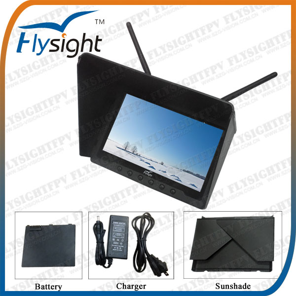 C045 7 inch Dual Diversity LCD HDMI Monitor Black Pearl RC801 for FPV Drone With 32ch 5.8GHz Receiver