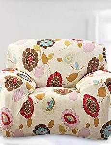 Ui&Ly Printed Tight All-inclusive Sofa Towel Slipcover Slip-resistant Fabric Elastic Sofa Cover (Light Yellow) , chair cover-light yellow , chair cover-light yellow