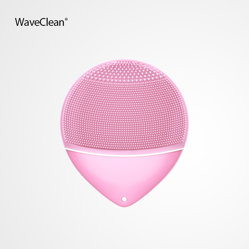 2018 Waveclean mini2 Skin Care Waterproof Electric facial cleansing brush Massage Silicone Face Cleansing Brush, Black;blue;purple;pink