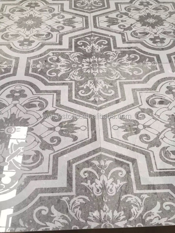Grey Marble Floral Pattern Carved Floor Tile Designs For  Hall,Kitchen,Bathroom - Buy Kitchen Floor Tile Patterns,Pattern Medallion  Floor Tiles,Hall Flooring ...