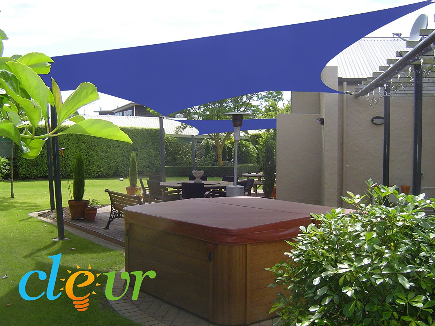 Superieur Get Quotations · New Premium Clevr Sun Shade Canopy Sail 13u0027X10u0027 Rectangle  UV Outdoor Patio Blue