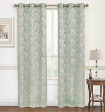 Alibaba brand name flower jacquard design blackout window curtain
