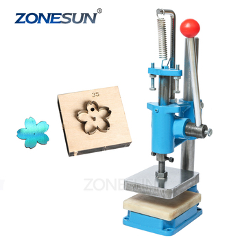 ZONESUN Small Hand Leather Cutting Machine Photo Paper PVC/EVA Sheet Mold Cutter Leather Die cutting Machine Small Die Embosser