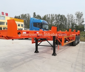 20FT 40FT Port Terminal Skeleton Semi Trailer Bomb Cart Yard Chassis For Sale