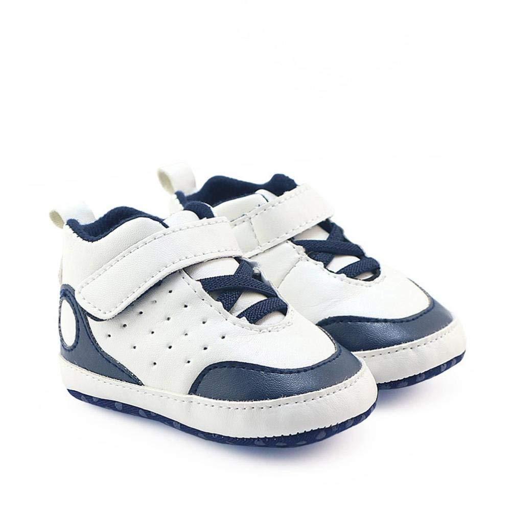 a08dc4837f86 Get Quotations · Elaco Infant Baby Boy Girl Soft Sole Crib Shoes Sneaker  Prewalker Crib Shoes