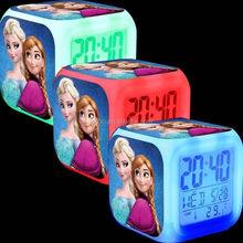 Frozen 7 Color Changing LED Digital Alarm Clocks For Kids & Christmas Gift