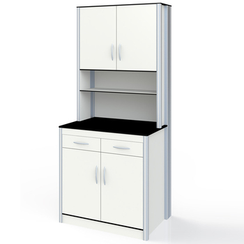 G Ft008 Medical Storage Cabinet Wall Mounted With Work Table Used For Hospital Lab Clinics