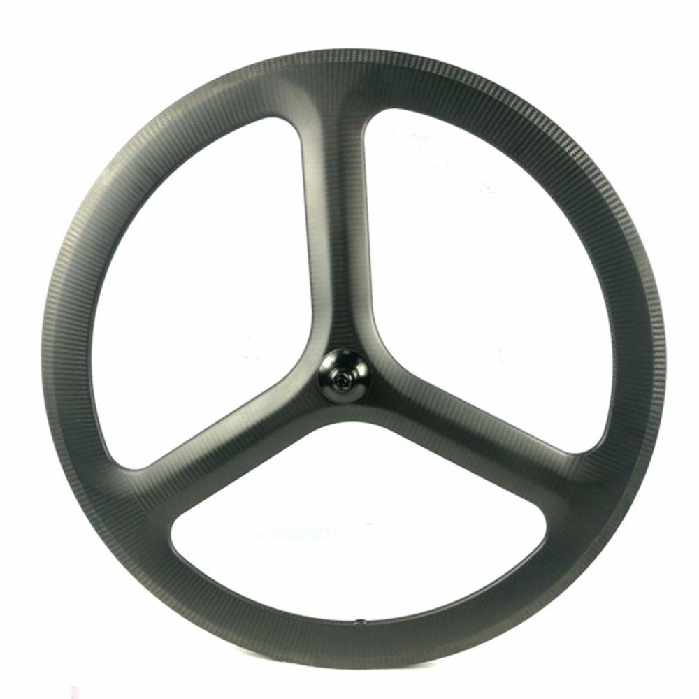 Carbon Wheel Rear Road//Track Bike Wheels 700C Racing Bicycle Tri Spoke Wheel