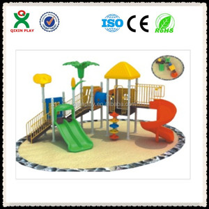 Guangzhou nursery school playground equipment/fiberglass waterpark slides/ china low cost QX-B0110
