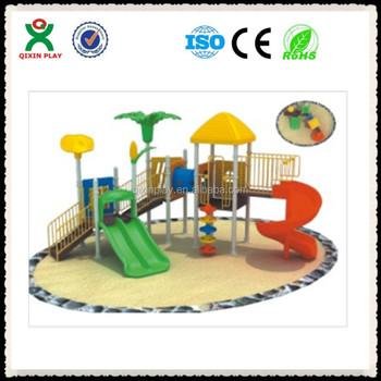 Guangzhou Nursery School Playground Equipment Fibergl Waterpark Slides China Low Cost Qx B0110