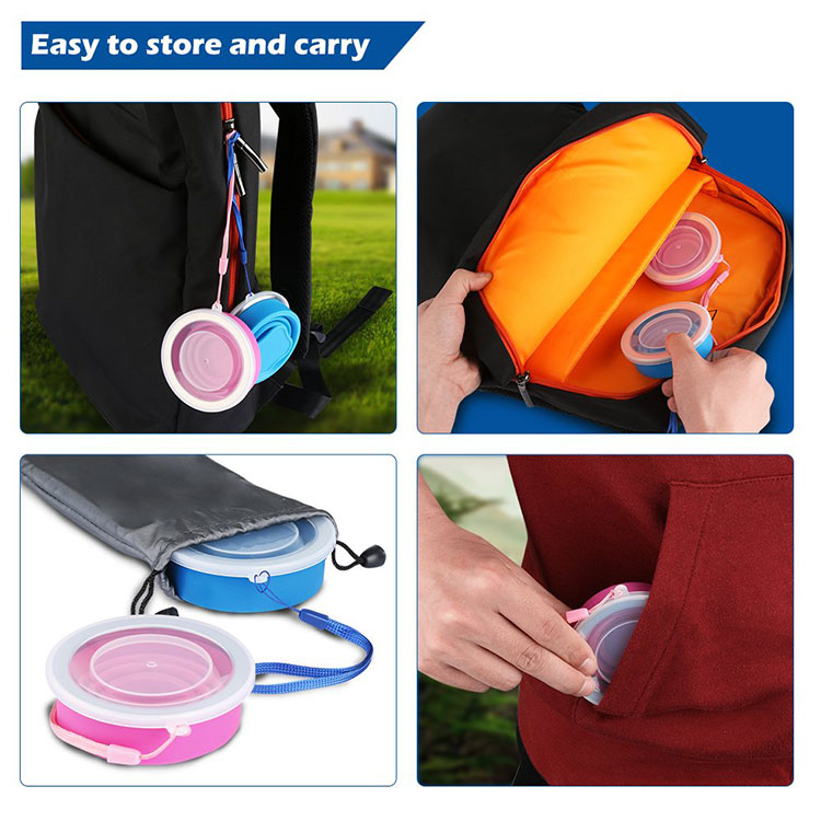 Hot Outdoor Travel Silicone Retractable Folding Cup Telescopic Collapsible Portable Water Cup