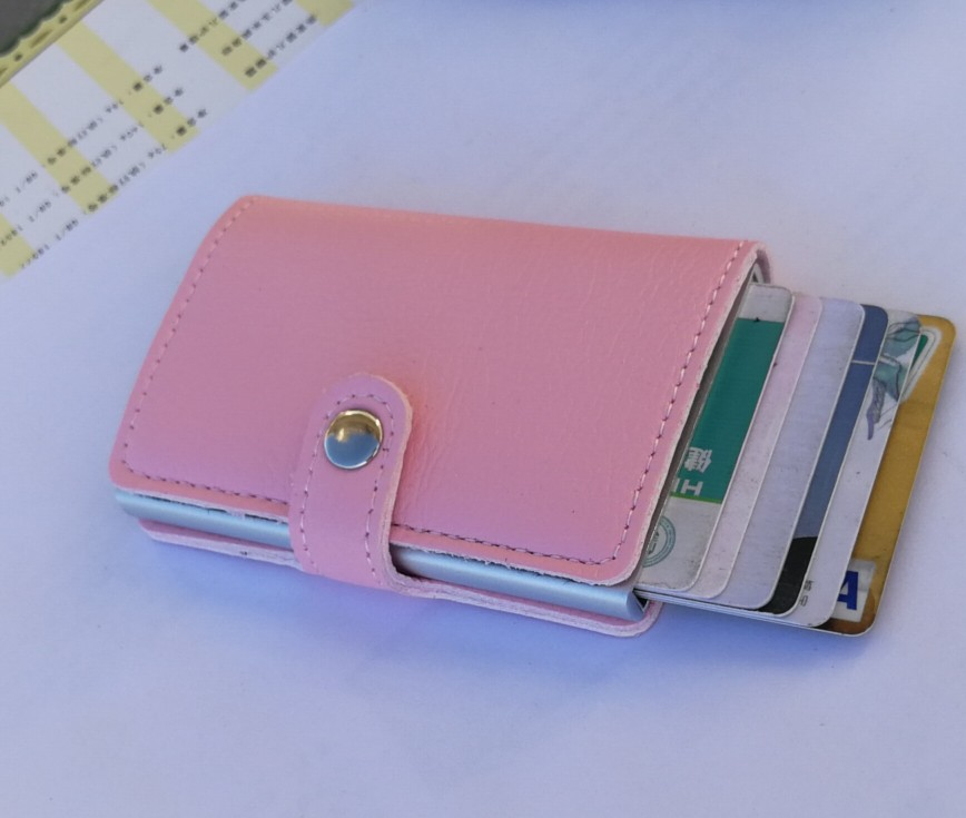 Promotion gift RFID blocking PU leather business ID ATM credit card holder