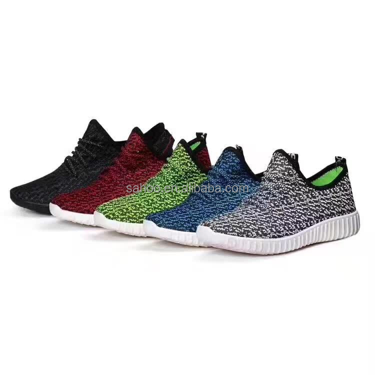Best selling fly knit sport shoes for men in stock low price discount