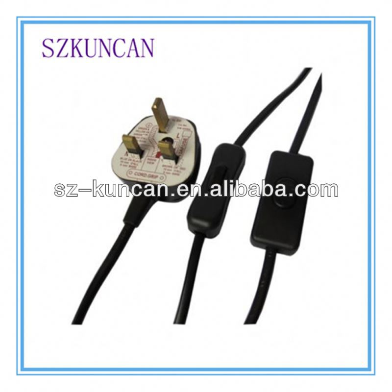 Power supply cord with on/off Switch japan extension cord plug and socket AC switch cords