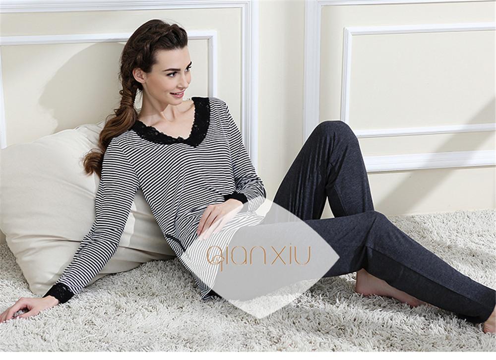Detail Feedback Questions about Qianxiu Brand Pajamas women Classic ... 1a1d2674c