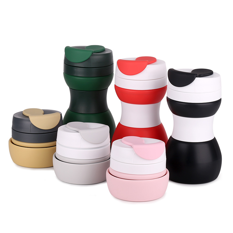 Fast Shipping Unique Safety FDA Approved Customized Leak-proof Silicone Foldable Coffee Cup