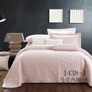 KOSMOS nantong factory high quality bed linen cotton quilted plain bedspread
