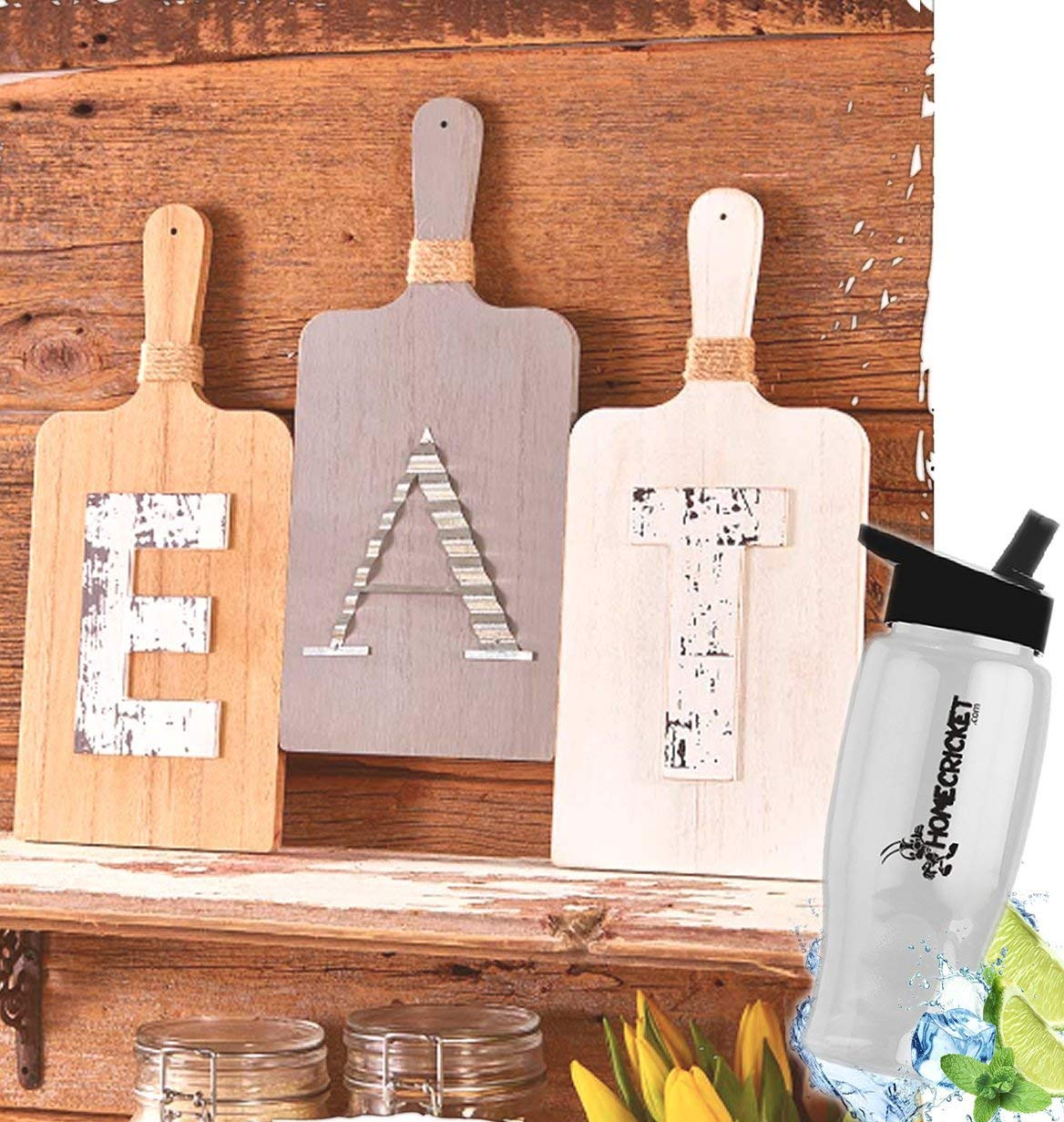 Buy Gift Included Country Farmhouse Kitchen Cutting Board Wall Display 3pc Eat Wall Hanging Decor Free Bonus Water Bottle By Home Cricket In Cheap Price On Alibaba Com