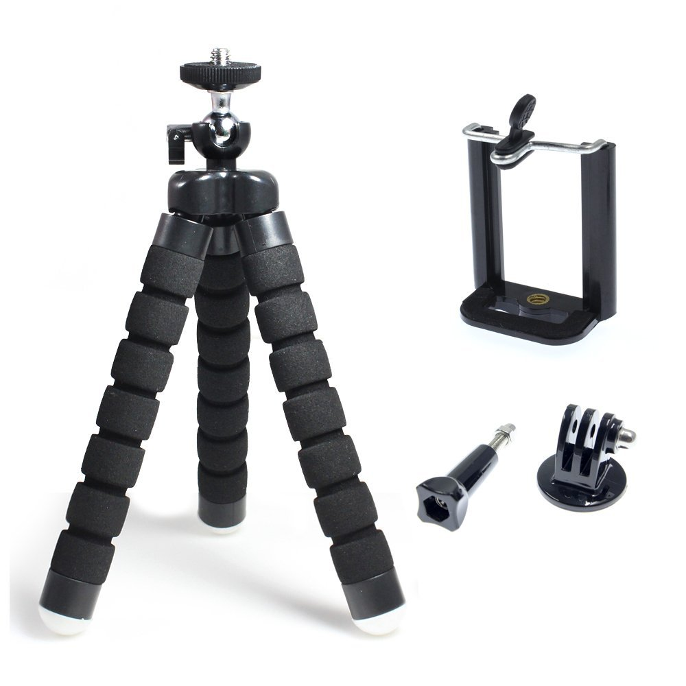 Flexible 360 degree Style Large size Tripod Stand Kit Universal for Cellphone Smartphone and Sport Action Camera