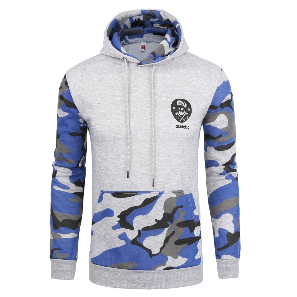 High quality Fit Leisure Sports Sweaters camouflage pattern mens hoodies male patchwork baseball shirts