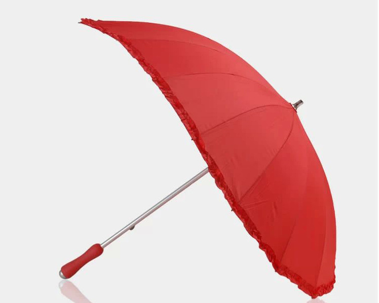 Бесплатная доставка красное в форме сердца зонт лучшего для свадьбы и любителей анти-уф палкой форме сердца с лонг-ручка зонтика