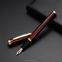Popular texturedd bamboo ink fountain pen with customized logo