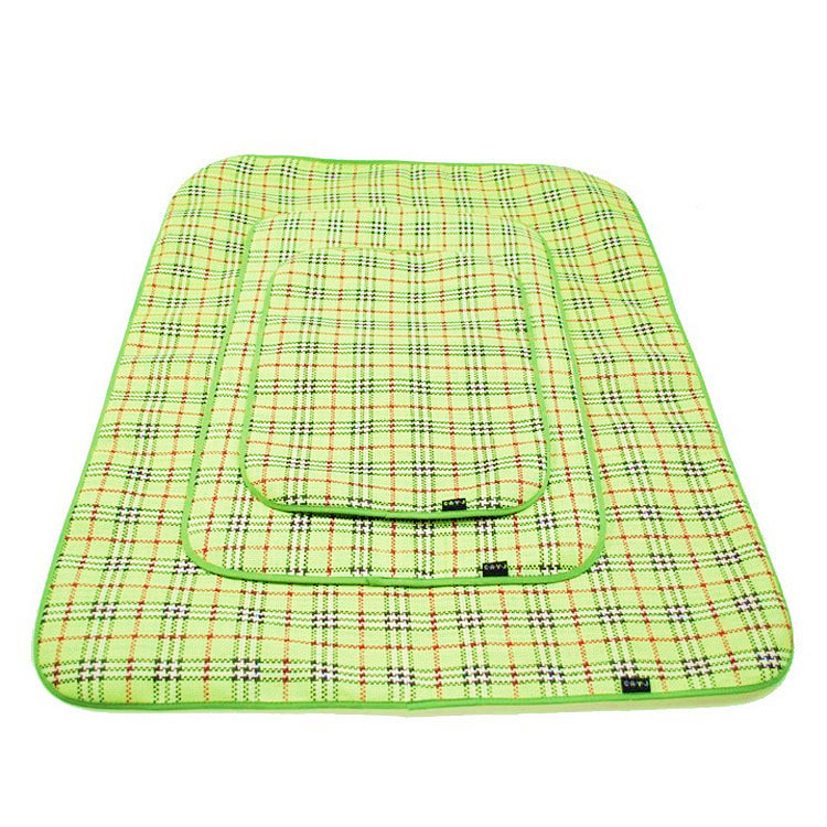 Green Pet Dog Mat New Arrival Fashion Pet Products Summer Dog Mat 2015 Fiber Cotton Products For AnimalS Sleeping Pad Bed