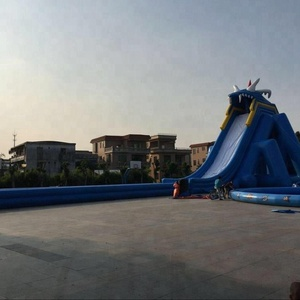 Hot sale outdoor inflatable water slides with pool,water slide for kids and adults