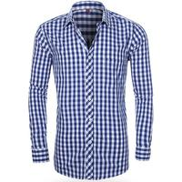 Custom 100% cotton Mercerized long sleeve plaid Casual Slim fit shirt for men