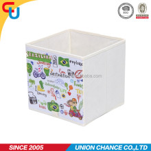 folding cubic non-woven fabric storage boxes with handle
