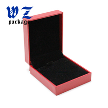 Custom Red Paper Gift Jewelry Box With Inner Flocking Foam