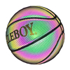 Glow in the dark freestyle reflective basketball