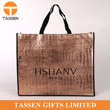 Wholesale golden non woven bag Ladies Shopping Bag Non woven Hand Bag With Logo