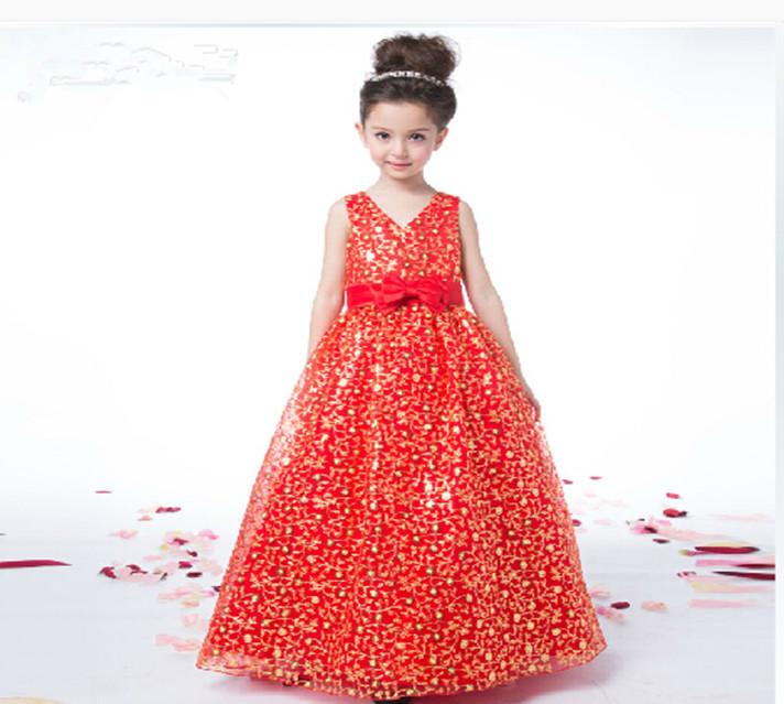 Get Quotations · Vestidos de Daminha V-Neck Bows Little Girl Pageant Dress  Ball Gown Flower Girl Dresses c6c6182f8977
