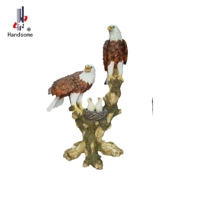 Resin Popular discount eagle resin animal figurines home deco