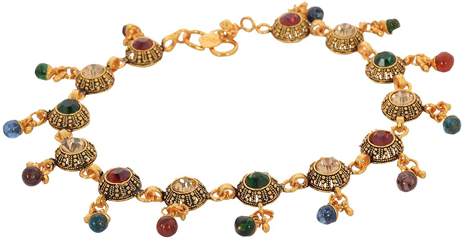 Handicraft Kottage Women's Fashion Jewelry Bronze Metal Anklet (HK-AAMG-6008)