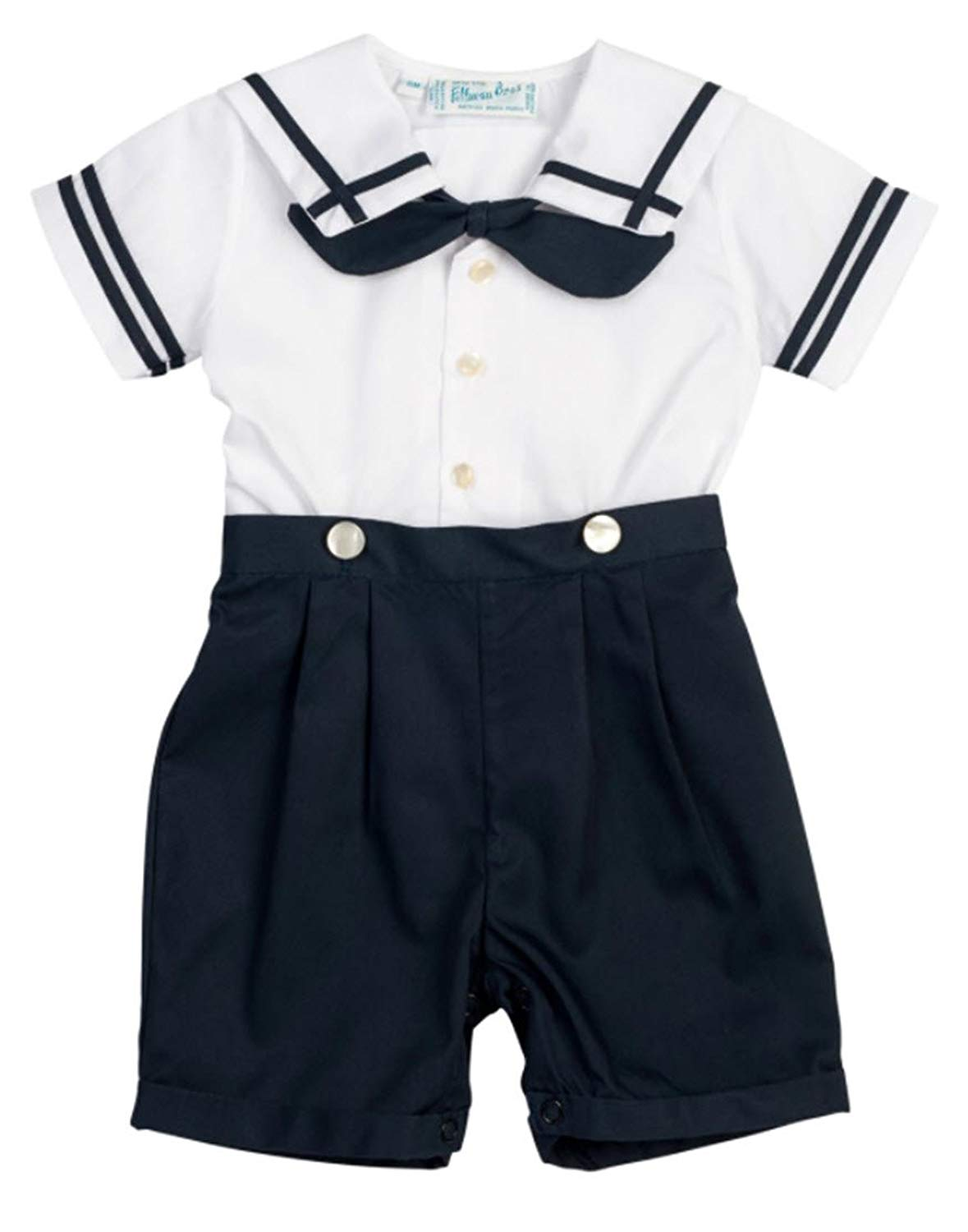 326cec708 Get Quotations · Navy Blue & White Boys Sailor Suit Infant & Toddler Easter