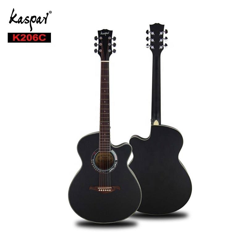 جيتار صوتي أسود 40 بوصة على شكل نجمة من خشب الورد رائع للمبتدئين بسعر رخيص من صانعي القطع الأصلية