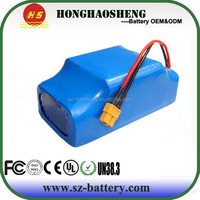 electric scooter lithium battery 36v 2 wheels hover board li-ion battery pack wholesale china
