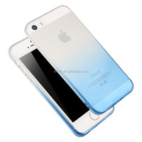 DFIFAN Hot products for apple iphone 5s mobile , ultra thin clear soft tpu color gradient case for iphone 5 cover