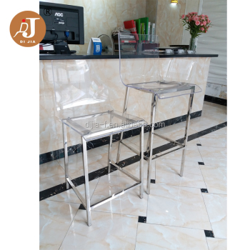 pas cher tabouret de comptoir transparent acrylique haute tabouret de bar chaise buy bar. Black Bedroom Furniture Sets. Home Design Ideas