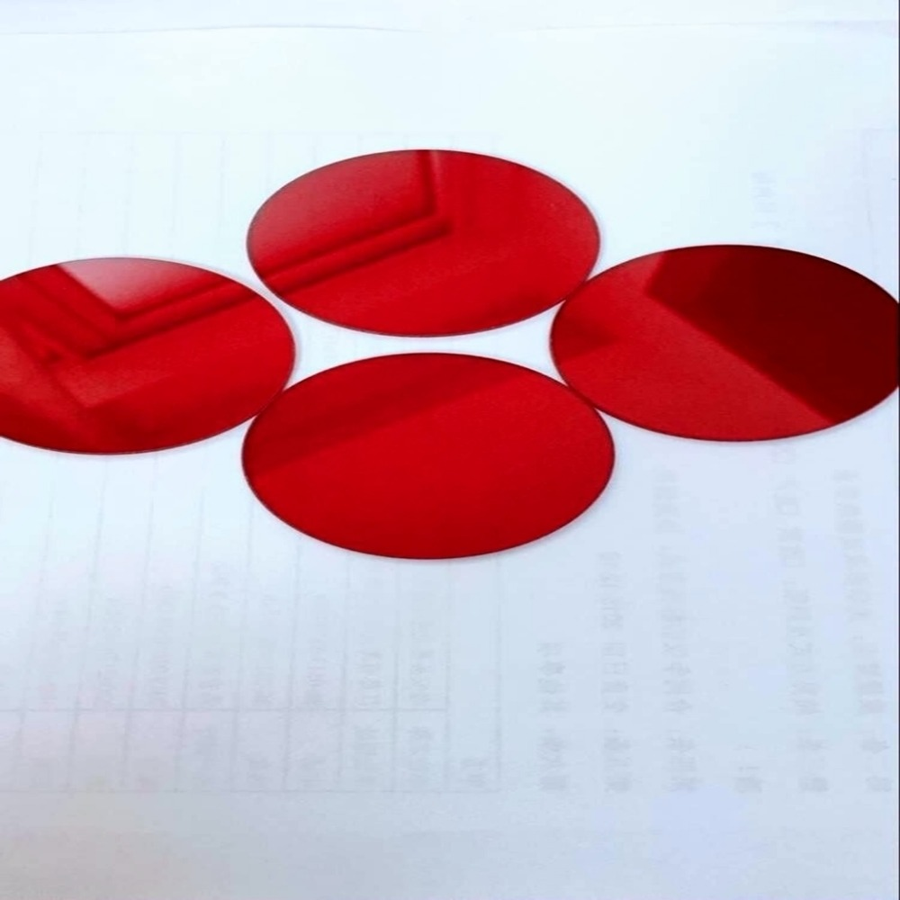 round with rings red color filter 650nm wavelength glass