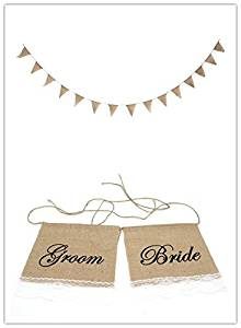 Buy Bride And Groom Vintage Wedding Bunting Banner Photo Booth Props